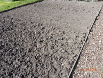 Land prepared and ready for planting